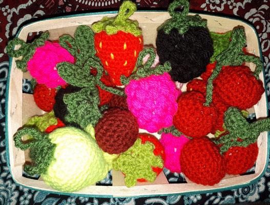 Amigurumi Anhänger Obst
