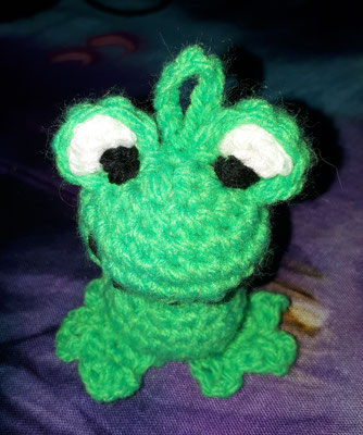 Amigurumi Anhänger Frosch