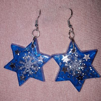 Weihnachts Ohrringe aus Resinharz