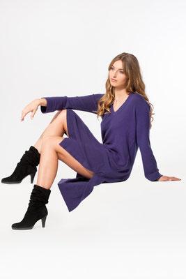 Tunika Kleid mit langen seitlichen Schlitzen