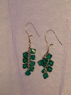 ELA EIS ohrhanger-swarovski-emerald