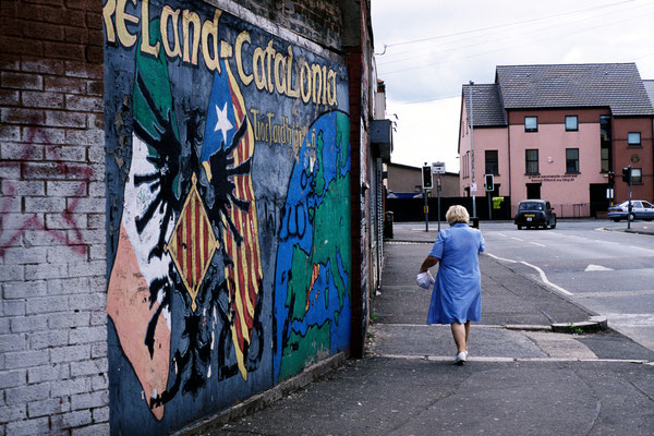 Republican Solidarity mural in Belfast, June 2005