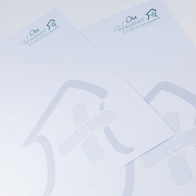 Briefpapier für Eröffnungseinladung