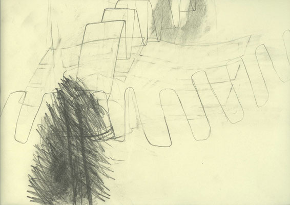 Hören, 2013, Graphit auf Papier, 32 x 24 cm