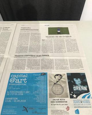 Capital@Art. International. Anzeige in der Mai-Ausgabe der Kunstzeitung Lindinger+Schmid. / IO CULTURAL NETWORK e.V.
