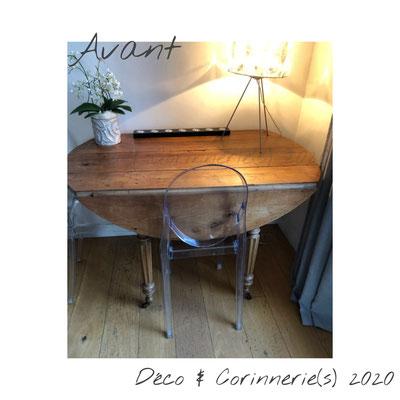 #Avant Table à volets style Louis Philippe