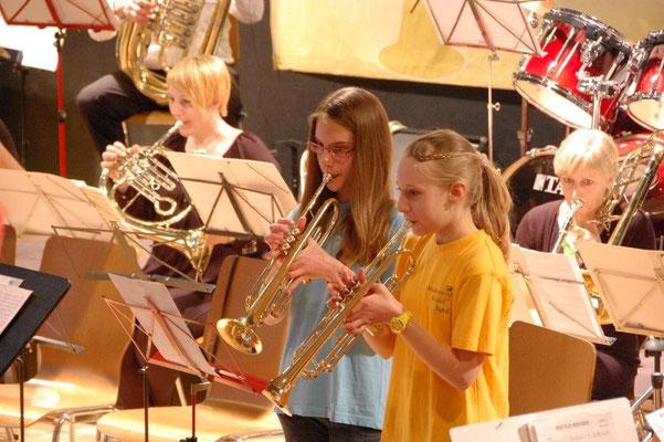 Jugend beim Konzert 2014. Quelle: Musikverein Helmsheim