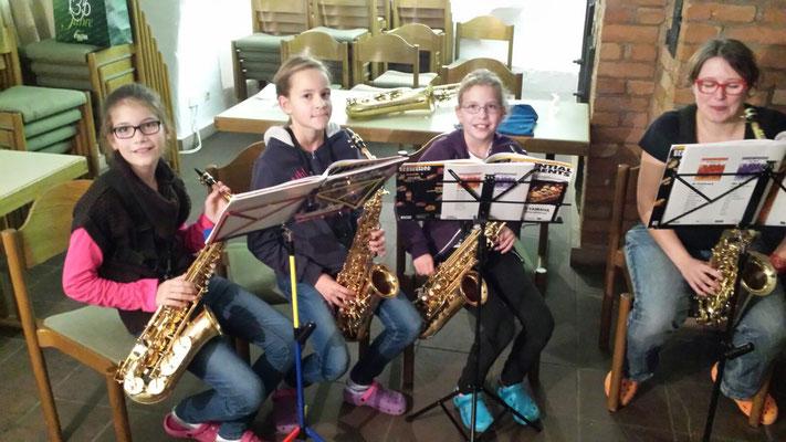 Instrumentenspezifische Ausbildung - Saxophon. Quelle: Musikverein Helmsheim