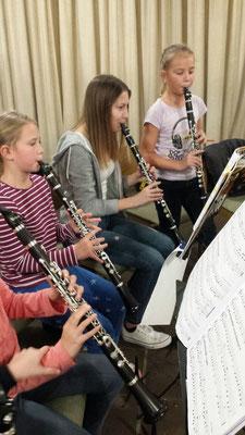 Instrumentenspezifische Ausbildung - Klarinette. Quelle: Musikverein Helmsheim