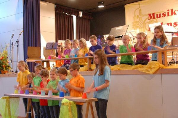 Unsere Jugend beim Konzert 2014. Quelle: Musikverein Helmsheim