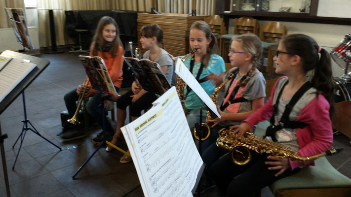 Jugend-Probe. Quelle: Musikverein Helmsheim