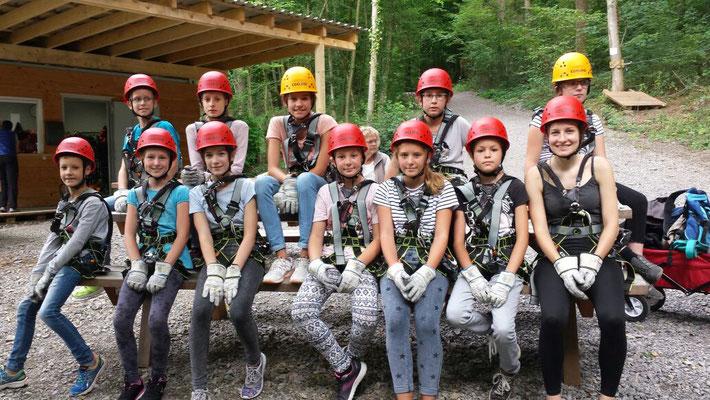 Spaß im Kletterpark. Quelle: Musikverein Helmsheim