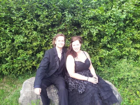 Martin und Sängerin Jessica Sold 2013