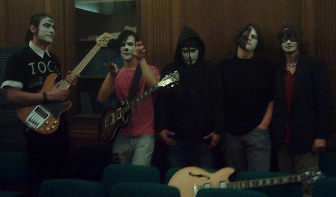 """Martin (rechts) mit seiner Band """"Wombat"""" 2005"""