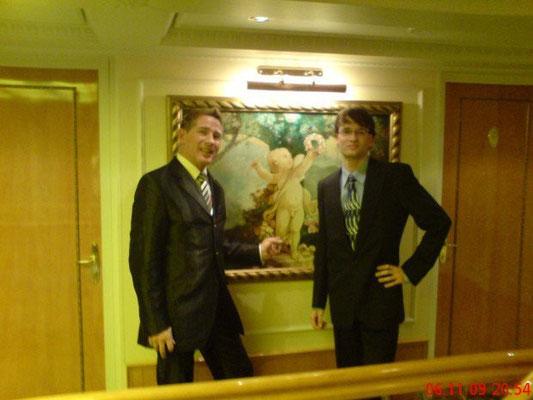 Mit Robert Schwarts auf der MS Casanova in Linz (Österreich) November 2009