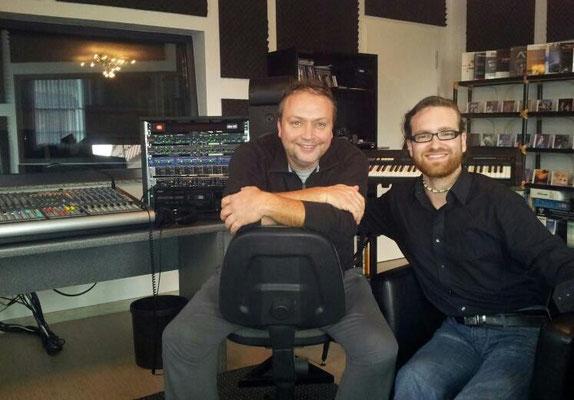 Martin mit seinem Produzenten Ralf Brütting (Studio Soundlab) im Dezember 2012