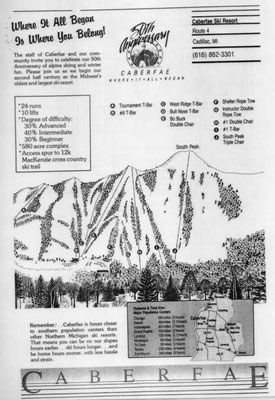 As Caberfae celebrated its 50th anniversary in 1987, changes were already underway. South Peak had been completed and North Peak was in the planning stage.
