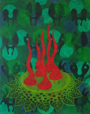 Lichtung, 2013, 100 x 80 cm, Acryl auf Nessel
