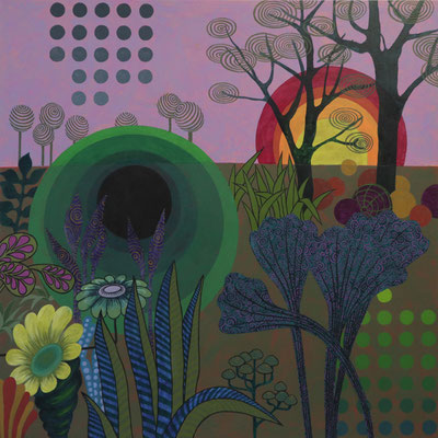 Quadrat mit Naht, 2019, 100 x 100 cm, Acryl auf Nessel