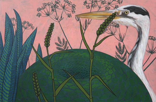 Feldrand in Welling, 2014/2020,  65 x 100 cm, Acryl auf Nessel