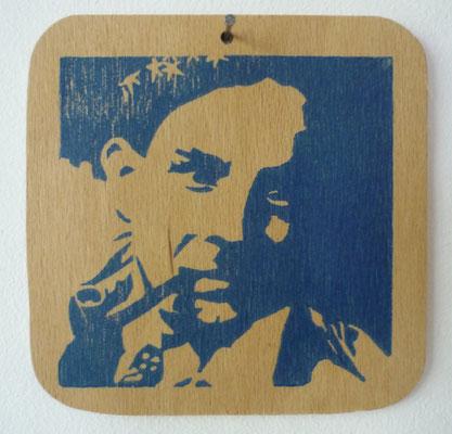 Carre Andre (Brüsseler Familie), Linoldruck auf Holz, 2015