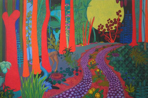 Großer Spaziergang, 2014, 200 x 300 cm, Acryl auf Nessel