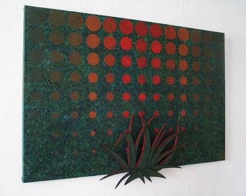 Das letzte Licht des Tages, 2013, 80 x 120 cm, Acryl auf Leinen und Sperrholz