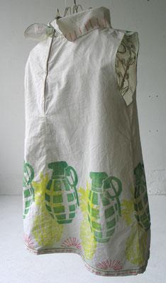 Leichte Bluse, Modell Ananas, Rückansicht
