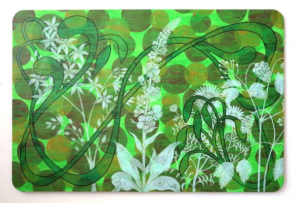 Queens green, 2020, 80 x 120 cm, Acryl auf Industriesperrholz