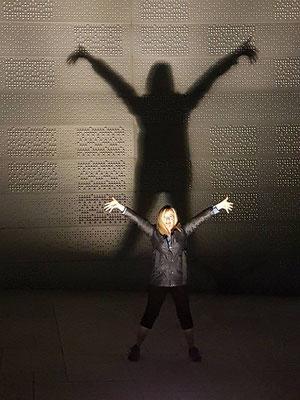 Sur le toit de l'opéra d'Oslo la nuit de mes 50 ans.
