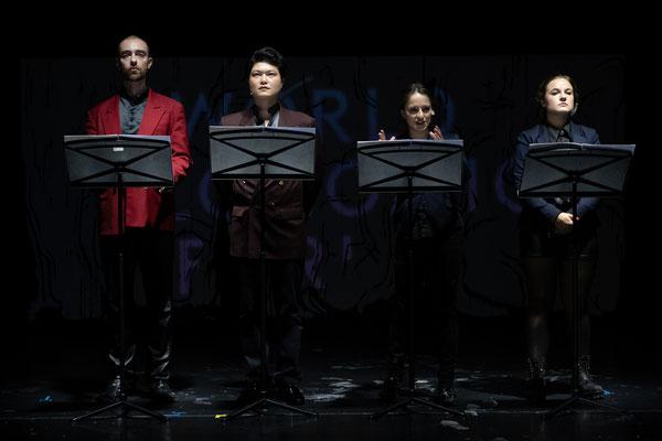 Suicide Machinery (Tania Rubio), Peter Fabig, Yongcheol Kim, Jana Markovic, Tina Josephine Jaeger; Landestheater Linz (c) Adi Hanusch