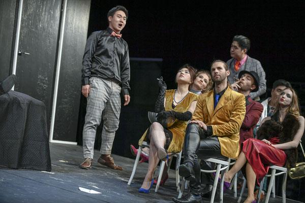 Ensemble Gianni Schicchi, Staatsschauspiel Dresden, kleines Haus 2019, (c) Sebastian Hoppe