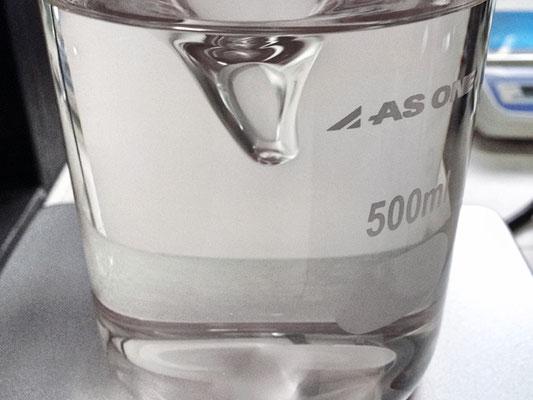 溶解後のアクリル樹脂