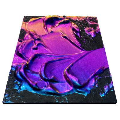 """2021 カイラルペイント「ネクサス」 Chiral Paint """"Nexus""""  Acrylic on plywood 210x148mm"""