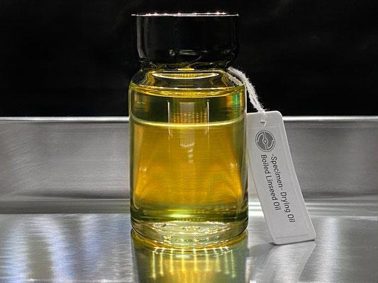 低温ボイルされた亜麻仁油のサンプル