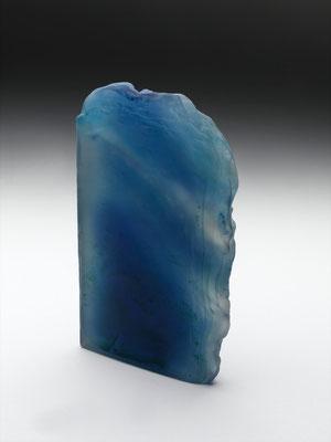 fusion Bleu sabléFusing glass recto