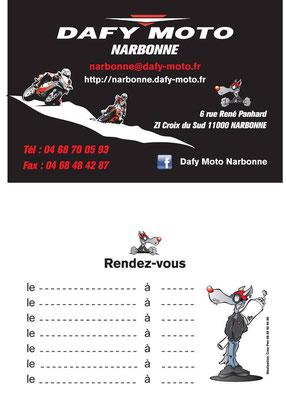 Cartes De Visite Pour Dafy Moto Narbonne