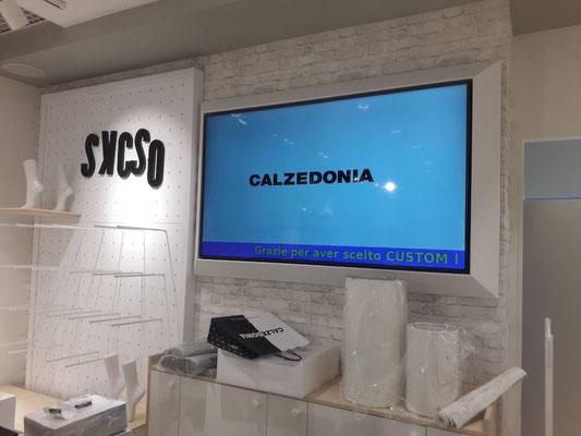 Монтаж телевизора в магазине Calzedonia