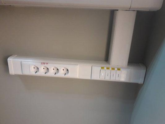 Установка розеток и выключателей в щитовой
