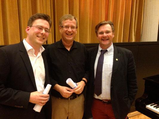Vorsitzender Johannes Hellmann, Künstlerischer Leiter Jörg-Peter Weigle und Stefan Parkman