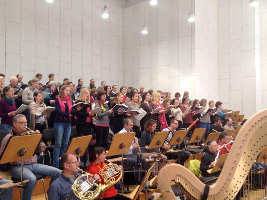 Probe in Halle mit Staatskapelle Halle, März 2015