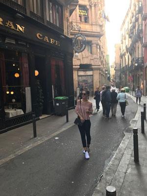 In den Straßen Barcelonas