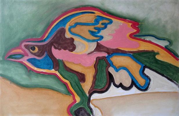 Greifvogel 4 I Öl auf Karton - 100 x 65 cm