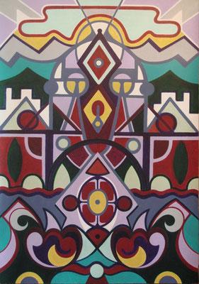 Diesseits I Acryl auf Karton - 70 x 100 cm