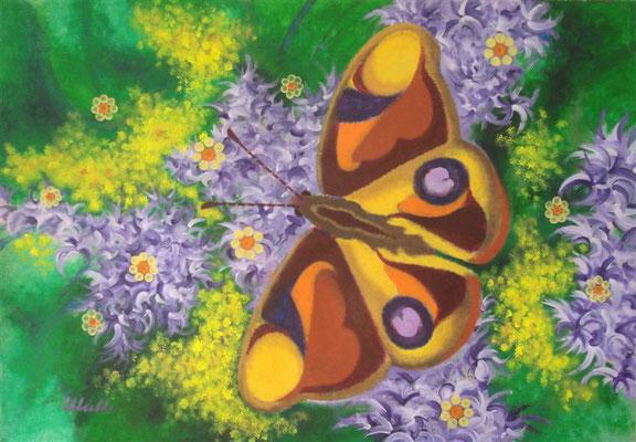 Grand Papillon I Acryl auf Karton - 100 x 70 cm