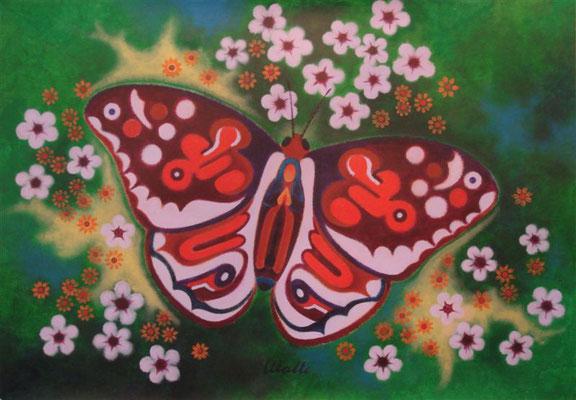 Nachtfalter I Acryl auf Karton - 100 x 70 cm