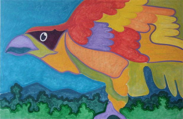 Greifvogel 1 I Öl auf Karton - 100 x 65 cm