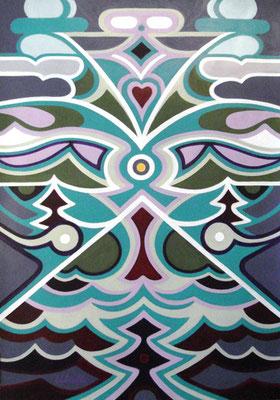 Blickpunkt I Acryl auf Karton - 70 x 100 cm