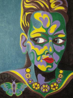Frauenkopf I Öl auf Karton - 70 x 100 cm
