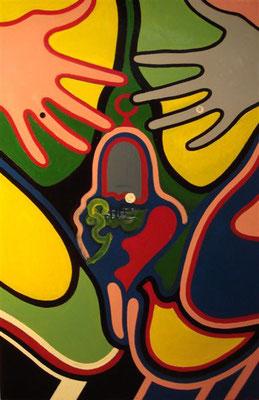 Unfassbar I Öl auf Karton - 65 x 100 cm